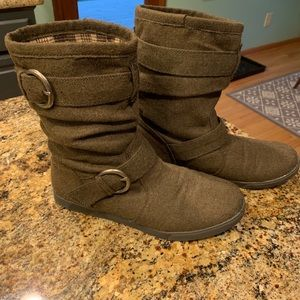 Slouchy Green Boots